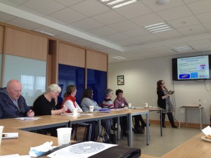 Amy Smth from the Dyslexia Association delivering In-Sercvice Training to Kerry Adult Basic Education Tutors